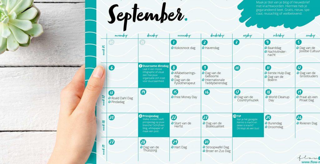 Flow Media - positieve flow kalender september