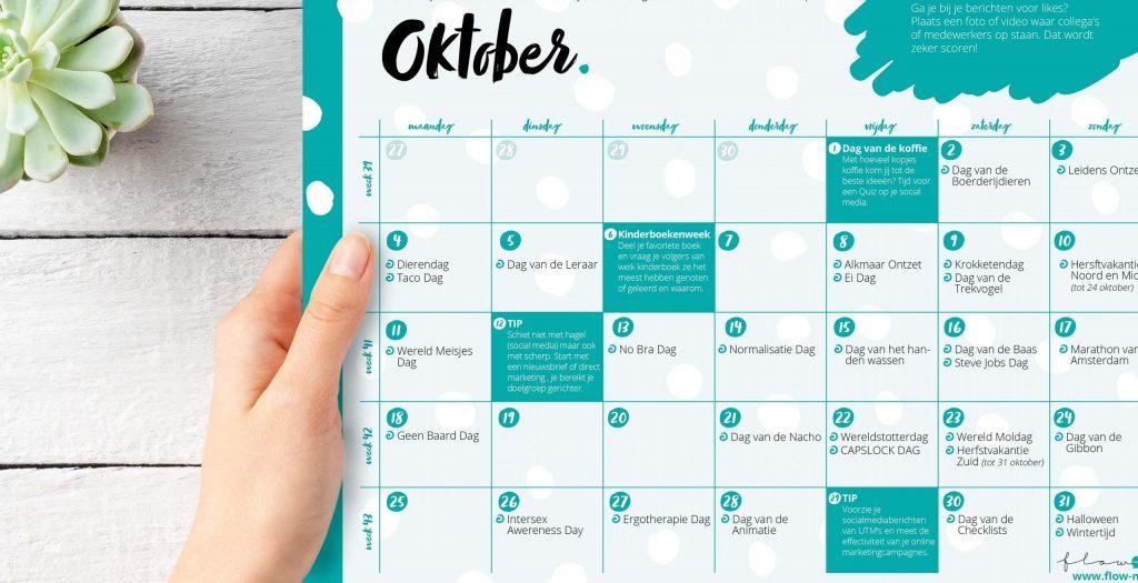 Flow Media - positieve flow kalender oktober