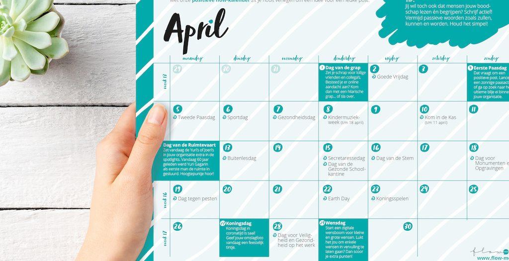 Flow Media contentkalender April 2021