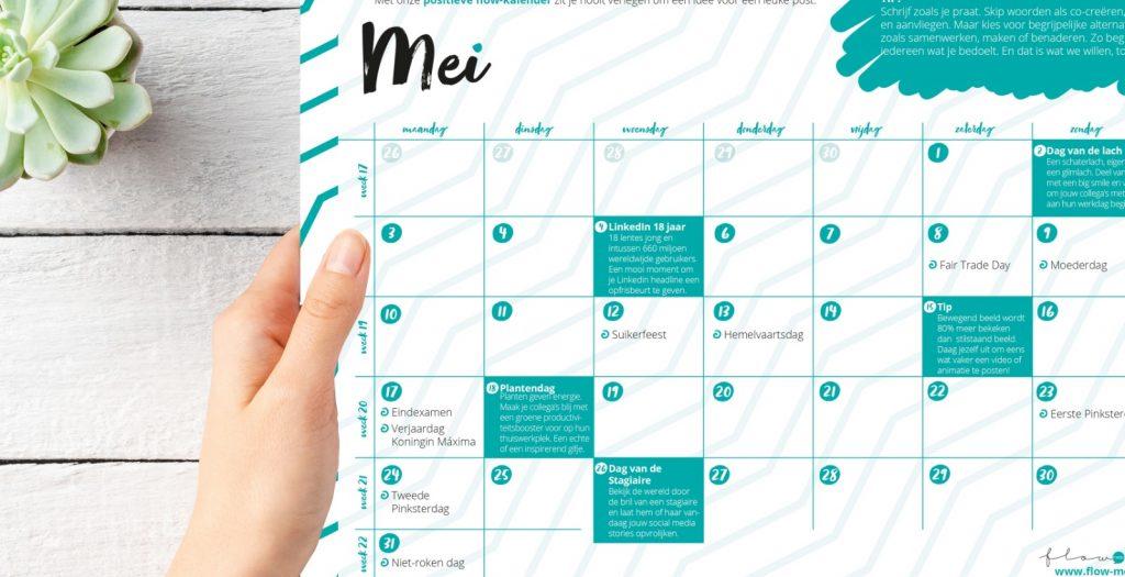 Flow Media - positieve flow kalender mei