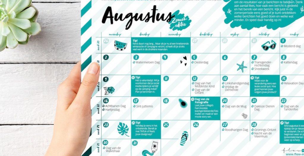 Flow Media - positieve flow kalender aug